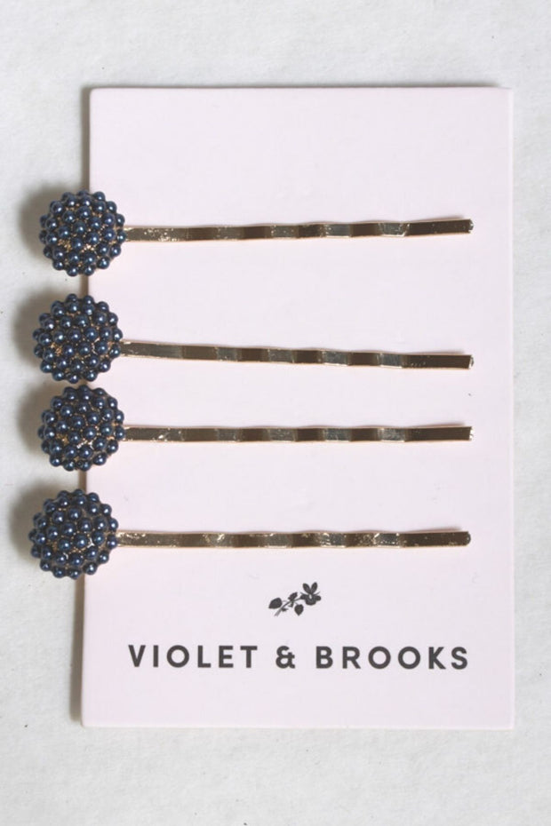 Violet and Brooks Pearl Bobbie Pin Quartet