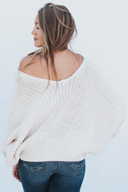 Almond Bat Wing Sweater