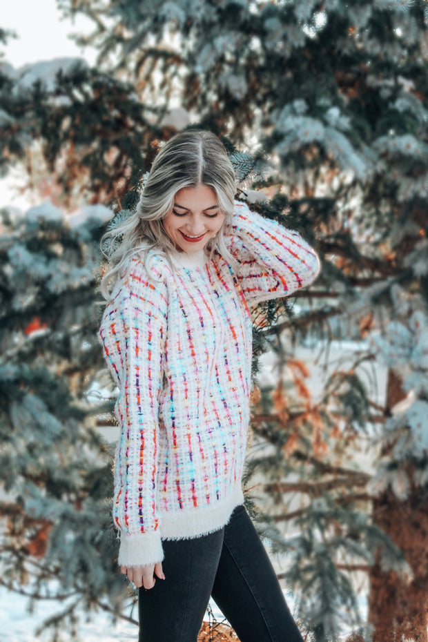 Confetti Party Tweed Sweater