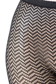 Chevron Print Fishnet Pantyhose