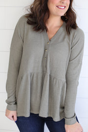 BABYDOLL THERMAL (DUSTY OLIVE)