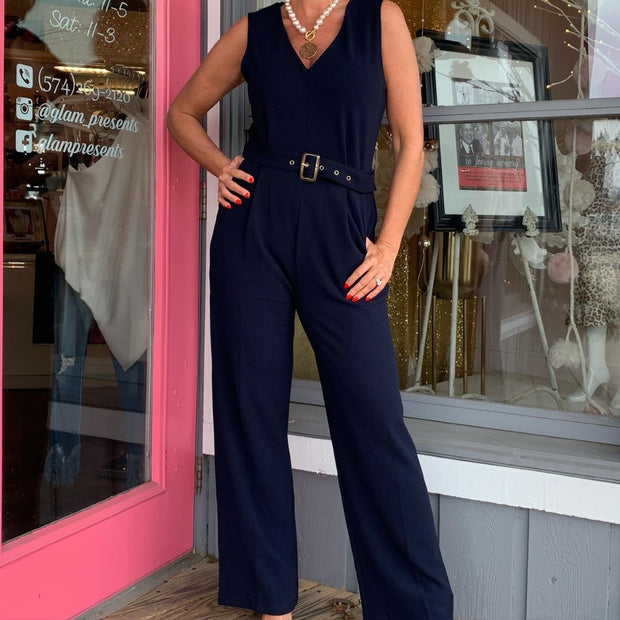 BY Navy Jumpsuit