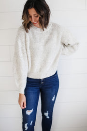 SPECKLED OVERSIZED CREWNECK