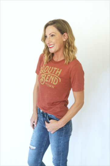 South Bend Town Clay Custom Unisex Tee