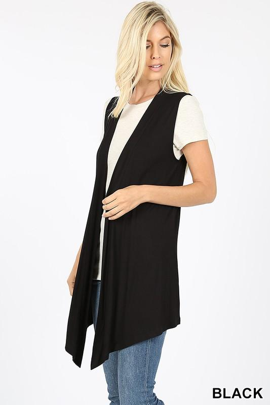 Invest in Yourself Black Sleeveless Cardi