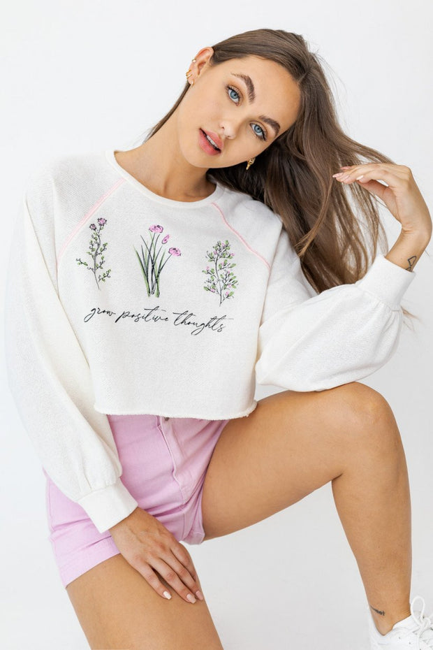 Grow Positive Thoughts Graphic Top