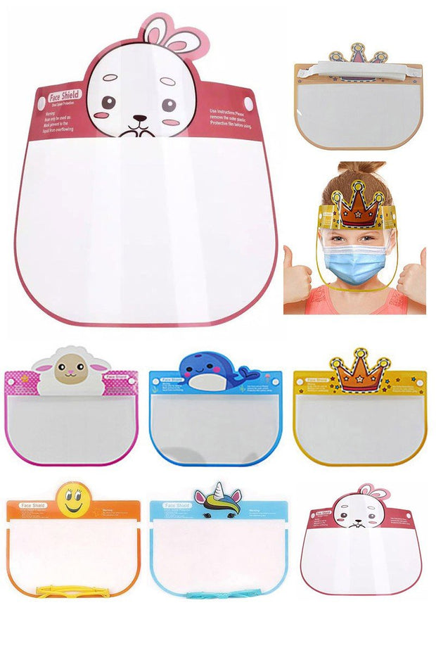 Animal Theme Kids Face Shield