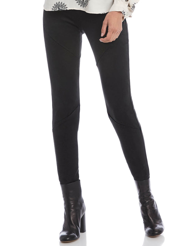 Fifteen Twenty Seamed Faux Suede Pant Black
