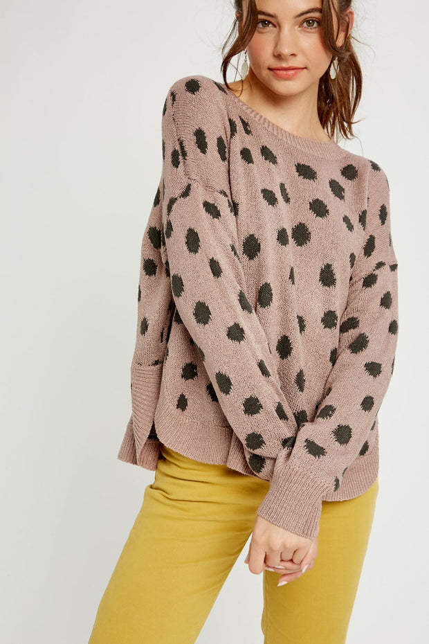 Sparks and Bliss Dotted Pullover Knit Sweater