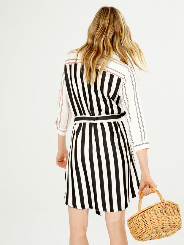 Vilagallo Dover Dress Red Stripes