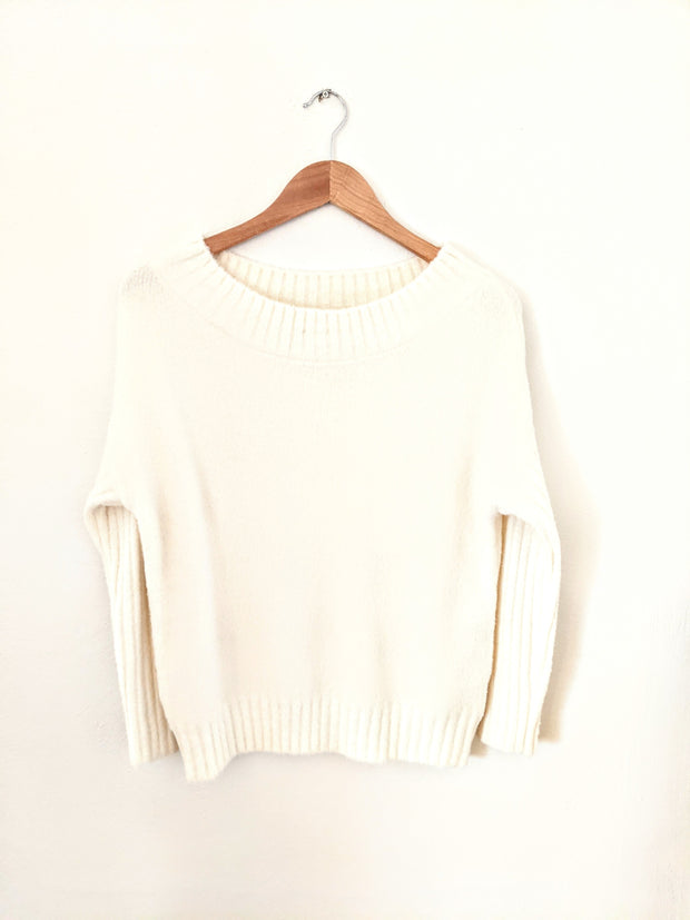 It Was Fate Ivory Off the Shoulder Sweater