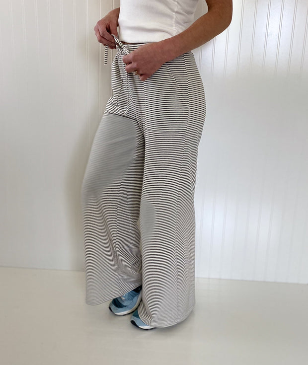 Stay Home With Me Striped Loungewear Pants