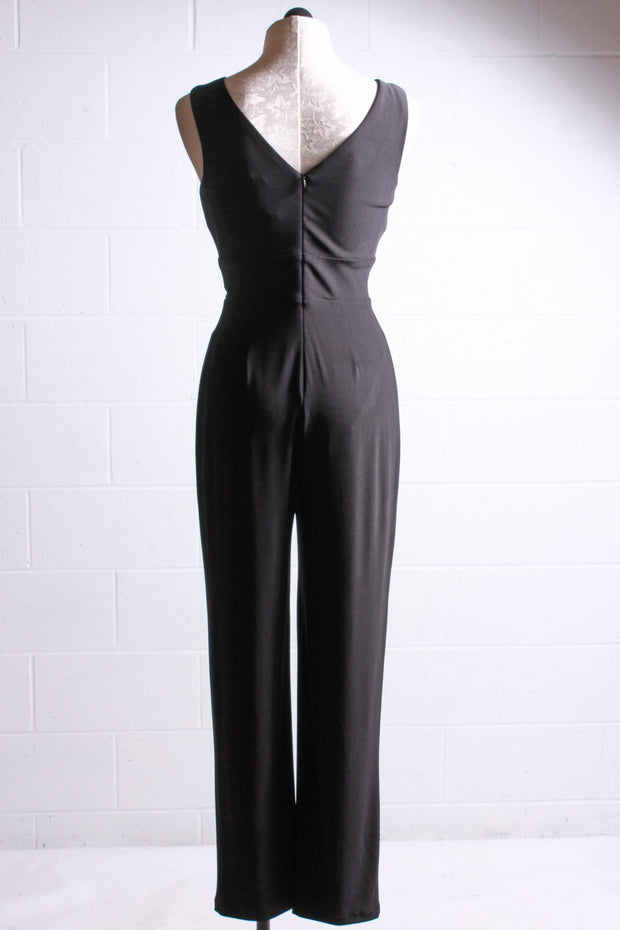 Sleeveless Jumpsuit with Grommets-Frank Lyman
