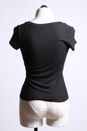 Only Hearts Cap Sleeve Tee Black 45901