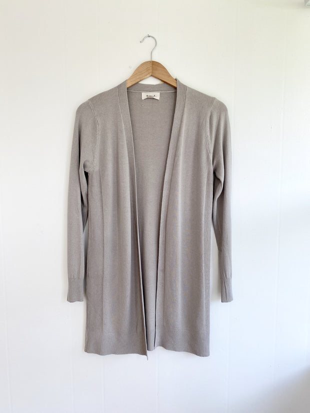 Got A Hold On Me Taupe Cardigan