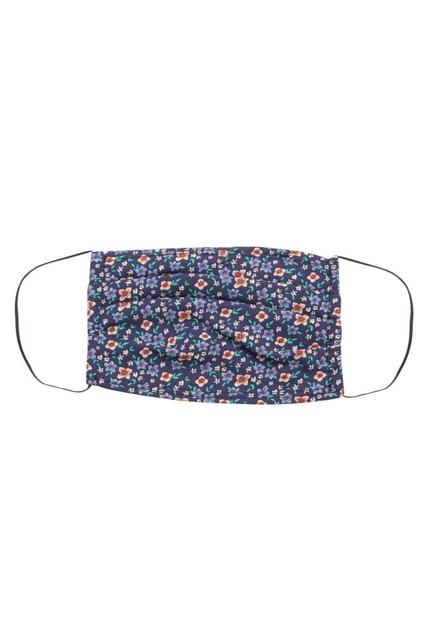 Blue Ditsy Floral Print Face Mask
