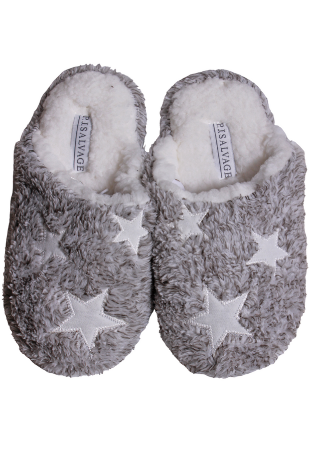 PJ Salvage Cozy Slipper Heather Grey RUCOSL