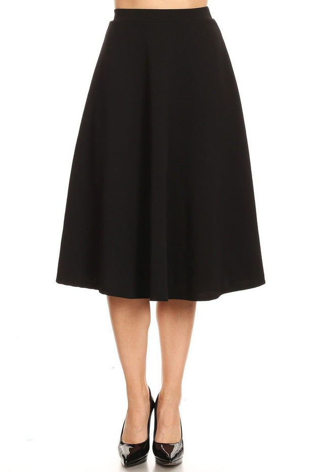 Wish You Well Black A-Line Skirt