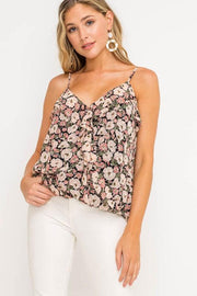 Call Me Maybe Black & Blush Top