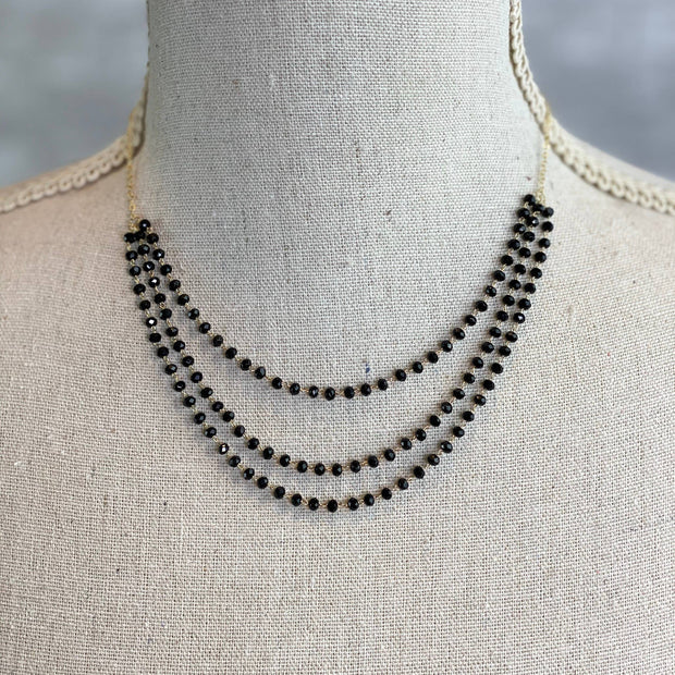 Mix Mercantile Designs - Desiree Necklace - Jet