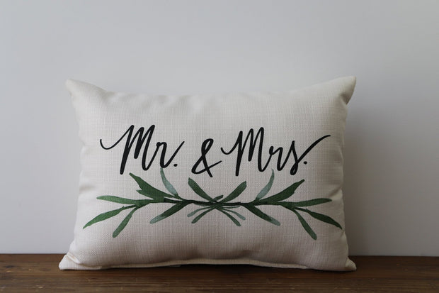 """Mr. & Mrs."" Throw Pillow"