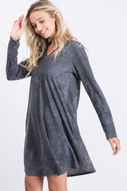 Forever Young Black Tie-Dye T-Shirt Dress
