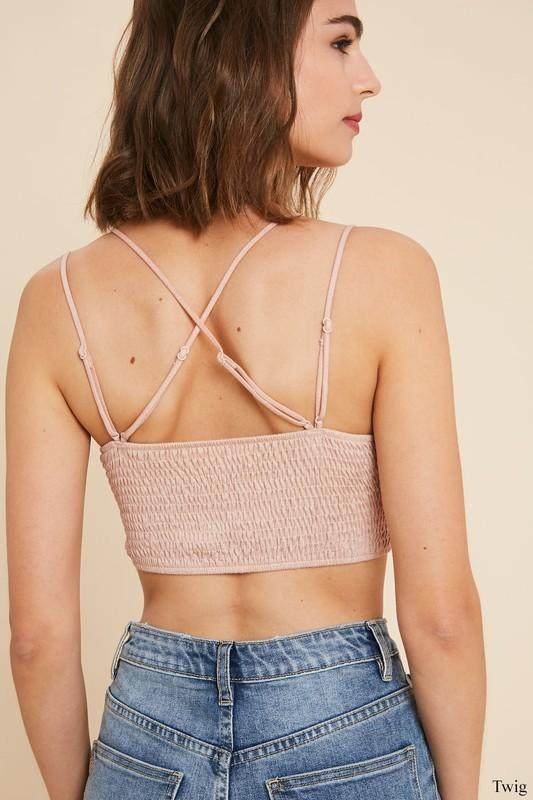 Win Me Over Light Pink Lace Bralette