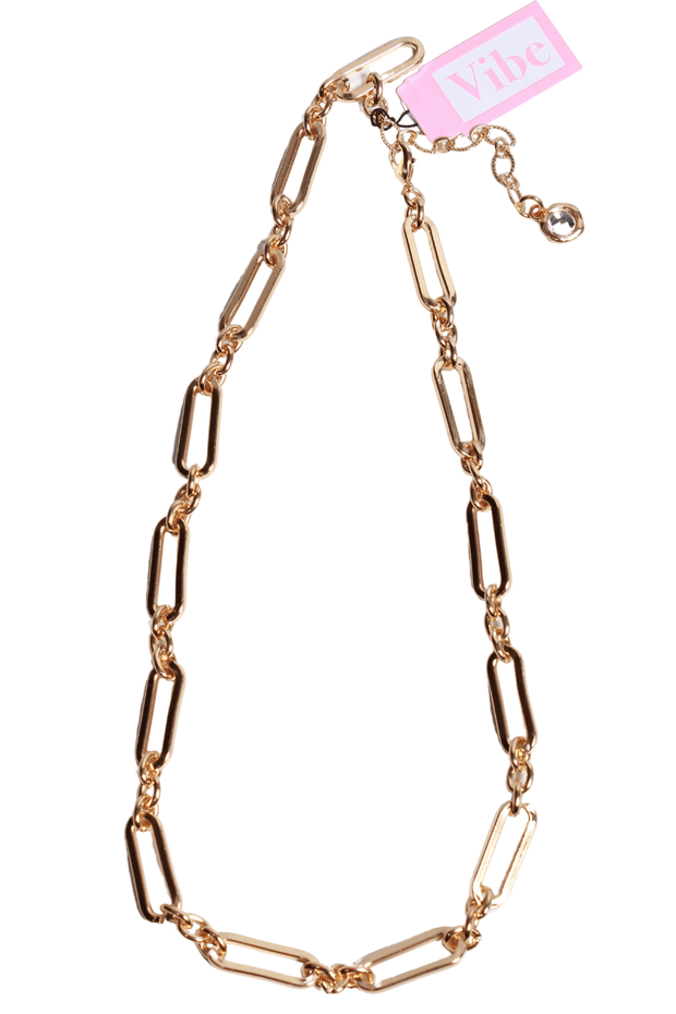 Lula N Lee Gold Plated Chain Link Necklace