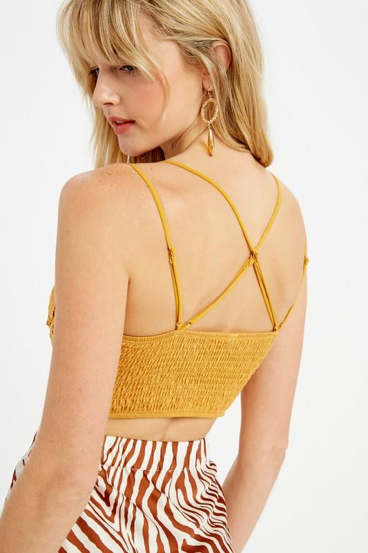 Win Me Over Olive Lace Bralette