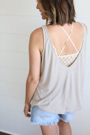 OPEN BACK TANK (TAUPE)