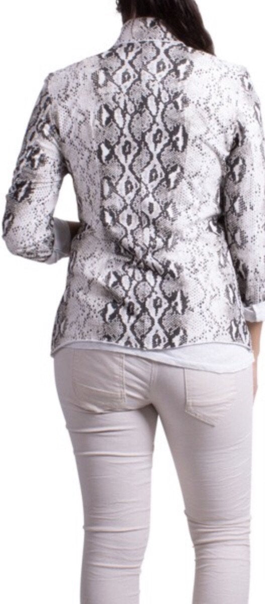 Gigi Moda Cotton Snake Print Jacket