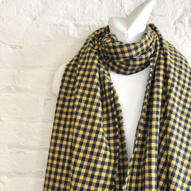 CRC Wholesale Redefined- Navy And Gold Checkered Scarf