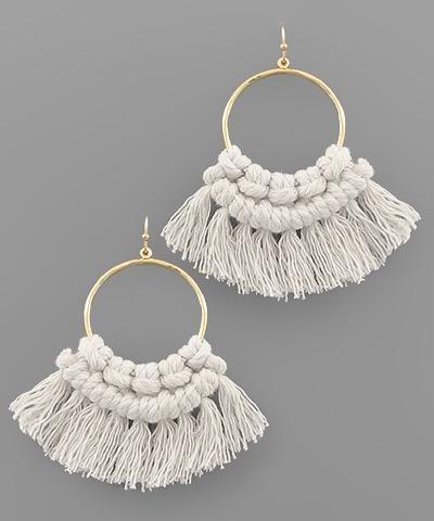 Stella Threaded Tassel Earrings