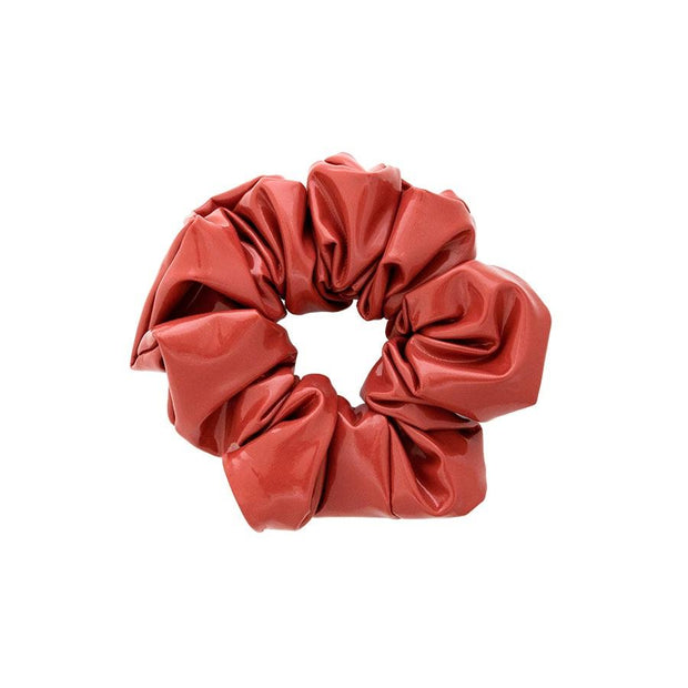 Emi Jay- Glossy Vegan Leather Scrunchie