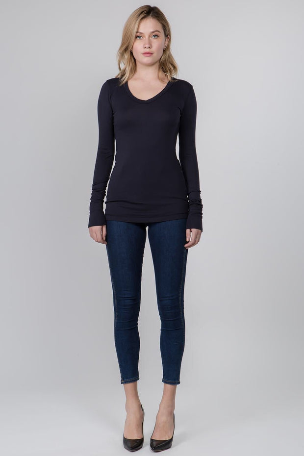 Crown Jewel Mod Long Sleeve V-Neck