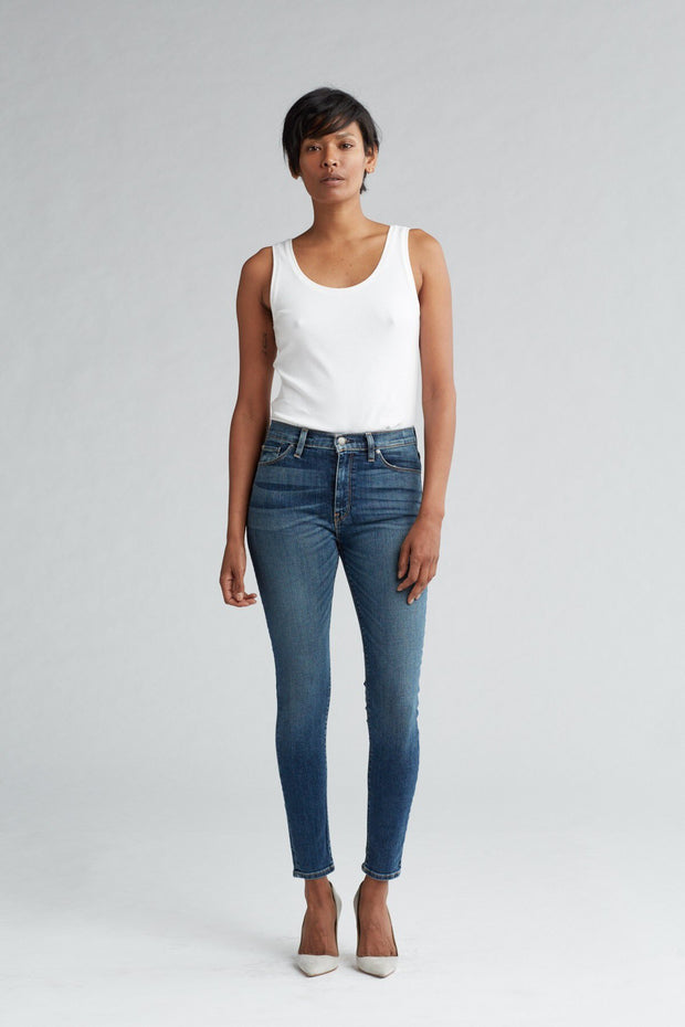 Hudson - Barbara High Waist Super Skinny - Clean Side Bar
