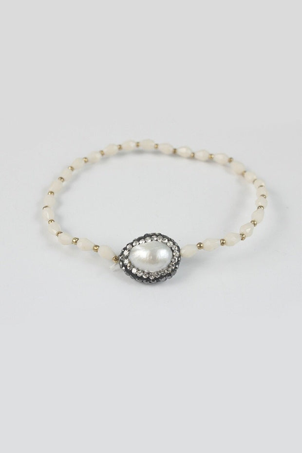 Ole Accessories Pearl Crystal Bracelet