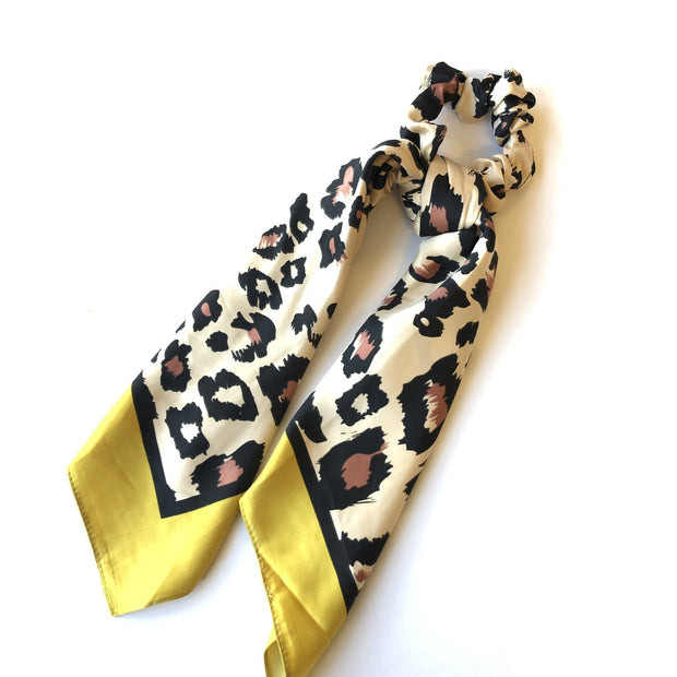 CRC Redefined Animal Print Scrunchie with Tail