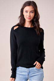SugarLips Atlanta Key Hole Cut Out Sweater