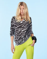 Elan Zebra V Neck Sweater