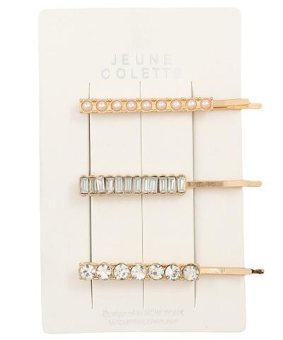 Stella Pave Pearl & Bead Hair Pin Set