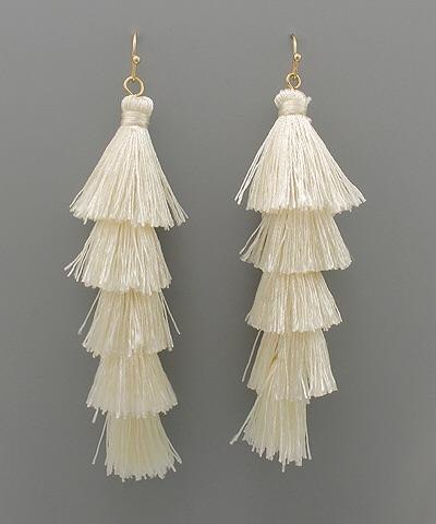 Stella Multi Layer Tassel Earrings