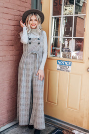 Boss Babe Plaid Overall Jumpsuit
