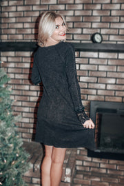 Simply Stunning T-Shirt Dress with Lace Detail