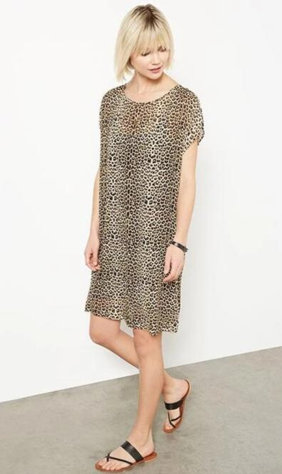 Fifteen Twenty Shift Dress Leopard