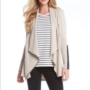 Fifteen Twenty Drape Leather Patch Jacket Khaki