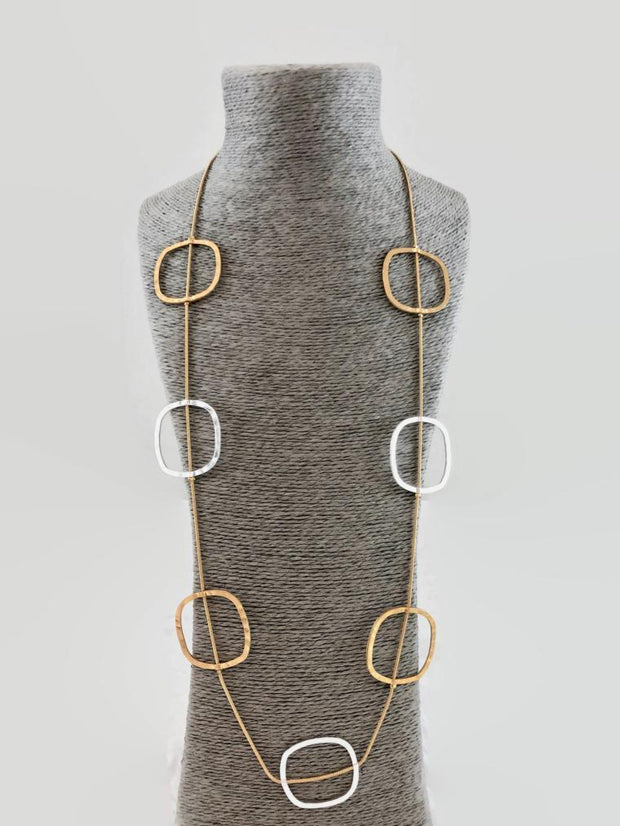 A Touch of Style - Silver/Gold Long Necklace