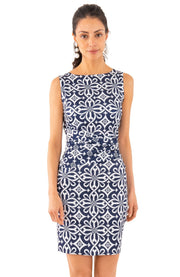 Gretchen Scott Corset Piazza Dress Navy White