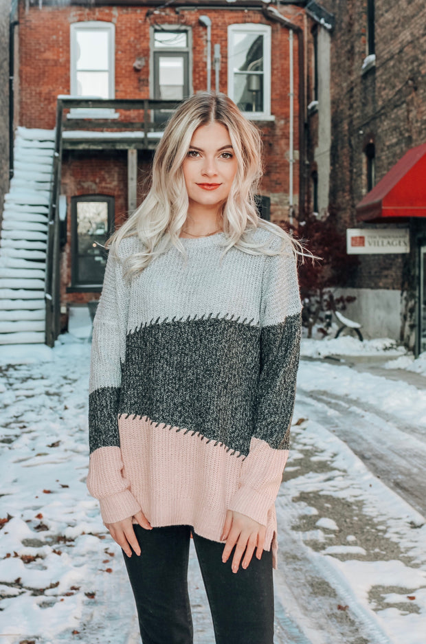 Snow in SoHo Stitch Detailed Sweater