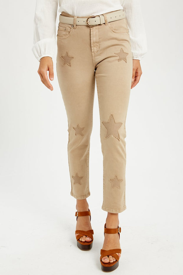 Star Power Stretch Denim with Star Quilting